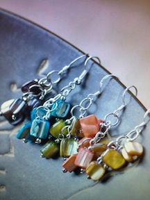 Colorful Mother-of-Pearl Earrings