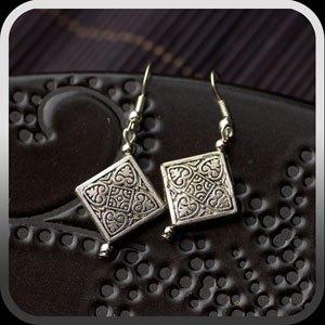 Silver Tibetan Squares