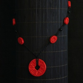 Cinnabar Pendant Necklace