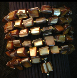 Brown Mother-of-Pearl Wrap Bracelet