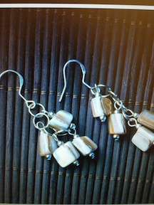 Ivory Mother-of-Pearl Cluster Earrings