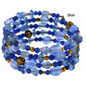 Blue Delhi Glass Bead Bracelet