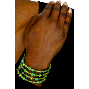 Indian Glass Bead Wrap Bracelet