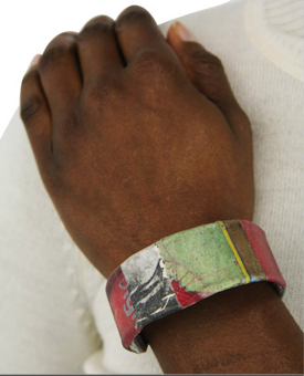 Haiti Recycled Bracelet with REd