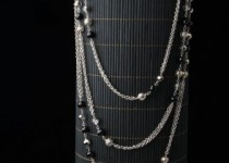 TBP blk onyx  w bali bead necklace