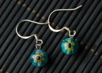 TBP lwp earrings blue bead