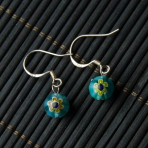 TBP lwp earrings blue bead