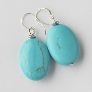 TBPTurquoise oval earrings