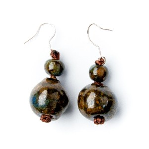 TBP ceramic ball earrings