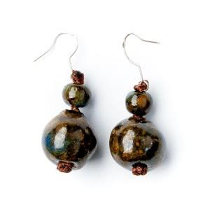 TBP ceramic ball earrings