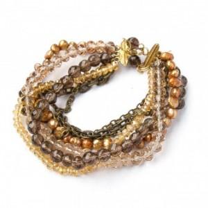 TBP brn multi fwp bracelet