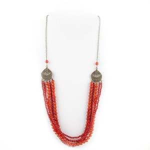 TBP long carnelian multi necklace