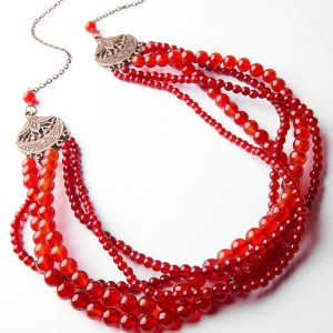 TBP long Carnelian multi necklace3