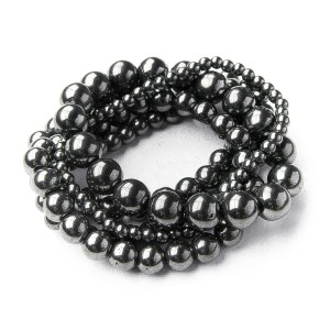 TBP gunmetal stretch bracelet