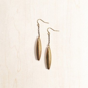Gold Tone Tube Earrings