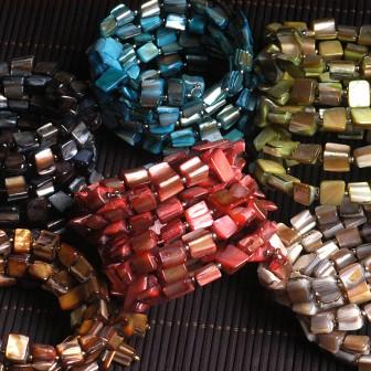 Mother-of-Pearl Wrap Bracelets